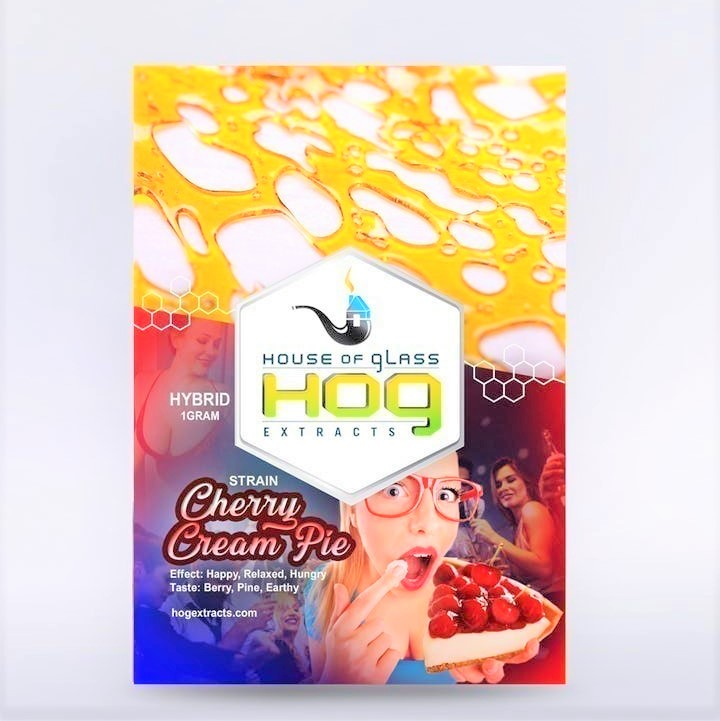 HOG Extracts Cherry Cream Pie Hybrid Shatter 1g