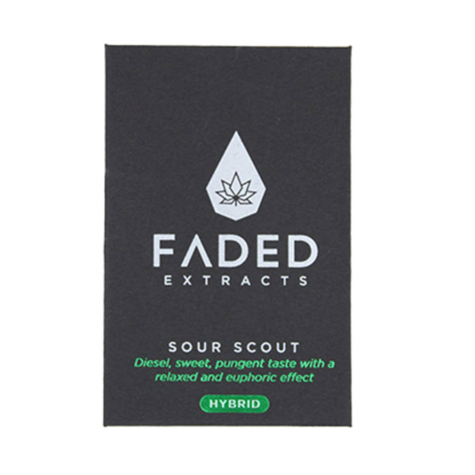 Faded Extracts Sour Scout Hybrid Shatter 1g