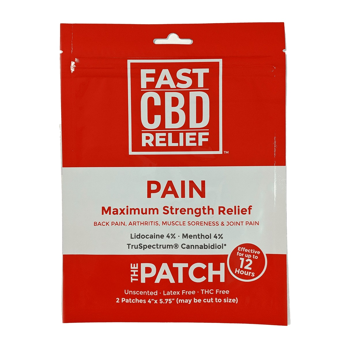 Fast CBD Relief Patch 50mg CBD (2 x 25mg)