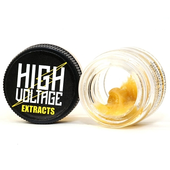 High Voltage Extracts Live Resin 1g - Purple White Lightning