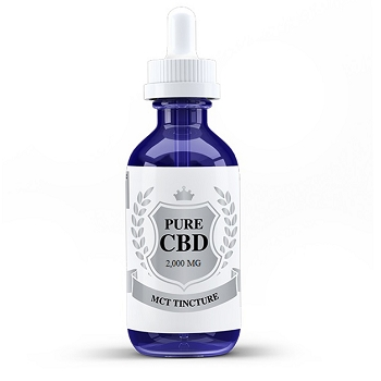 Premium CBD Tincture (Gluten Free) by Pure CBD – 2000mg (30ml)