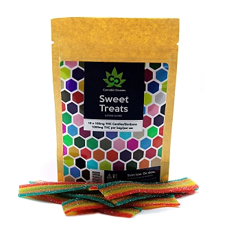 Cannabis Cousins High Dose Rainbow Strips – 1000mg THC