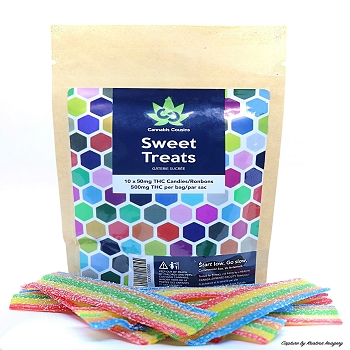 Cannabis Cousins Sweet Treats Rainbow Strips - 500mg THC