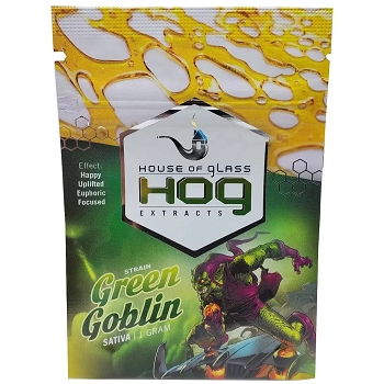 HOG Extracts Green Goblin Sativa Shatter 1g