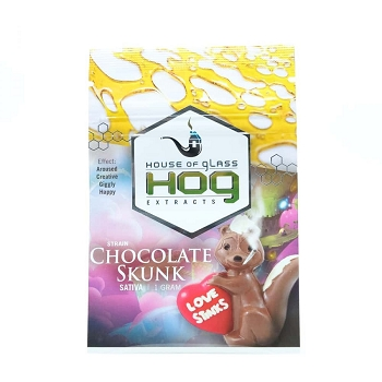HOG Extracts Chocolate Skunk Sativa Shatter 1g