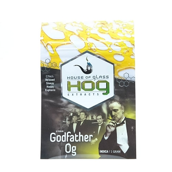 HOG Extracts Godfather OG Indica Shatter 1g