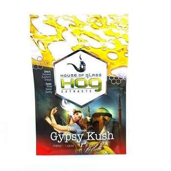 HOG Extracts Gypsy Kush Hybrid Shatter 1g