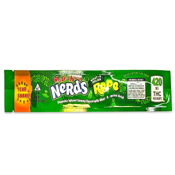 Medicated Nerds Rope 400mg THC - Melon