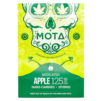 Mota Hard Candies - Apple 125mg THC (Hybrid)