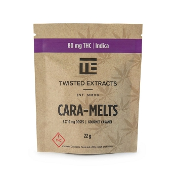 Twisted Extracts Cara-Melts – Indica (80mg THC)