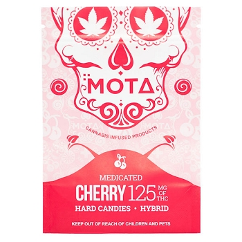 Mota Hard Candies - Cherry 125mg of THC (Hybrid)