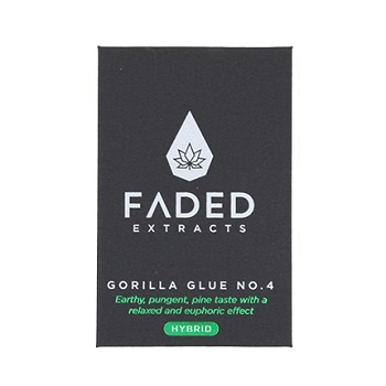 Faded Extracts Gorilla Glue #4 Hybrid Shatter 1g