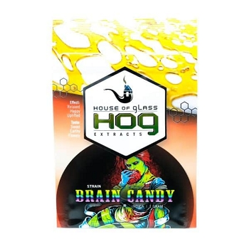 HOG Extracts Brain Candy Indica Shatter 1g