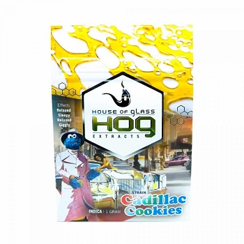 HOG Extracts Cadillac Cookies Indica Shatter 1g