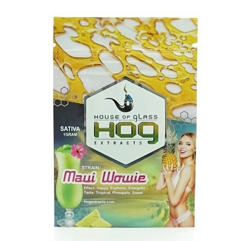 HOG Extracts Maui Wowie Sativa Shatter 1g