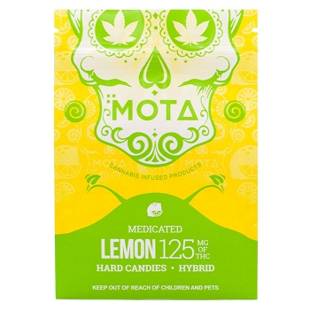 Mota Hard Candies - Lemon 125mg THC (Hybrid)
