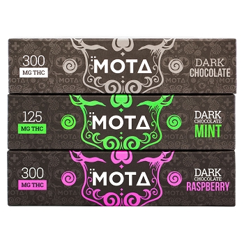 MOTA Dark Chocolate Bar - 300mg THC (Various Flavours)