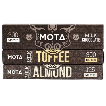 MOTA Milk Chocolate Bar - 300mg THC (Various Flavours)