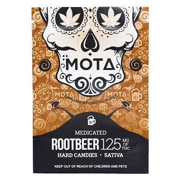 Mota Hard Candies - Rootbeer 125mg THC (Sativa)